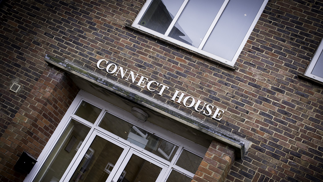 Halcyon Offices, Leatherhead, Connect & trident House, Serviced & Virtual Office Services, Exterior Signage