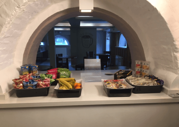 Image of the food snack bar at Halcyon Offices Thorncroft Croft Manor