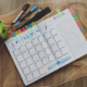 A picture of a business calendar planning ahead for 2020