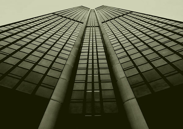 Image of a skyscraper containing an office building